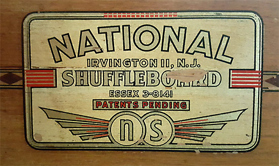 Vintage Shuffleboard Table Emblem